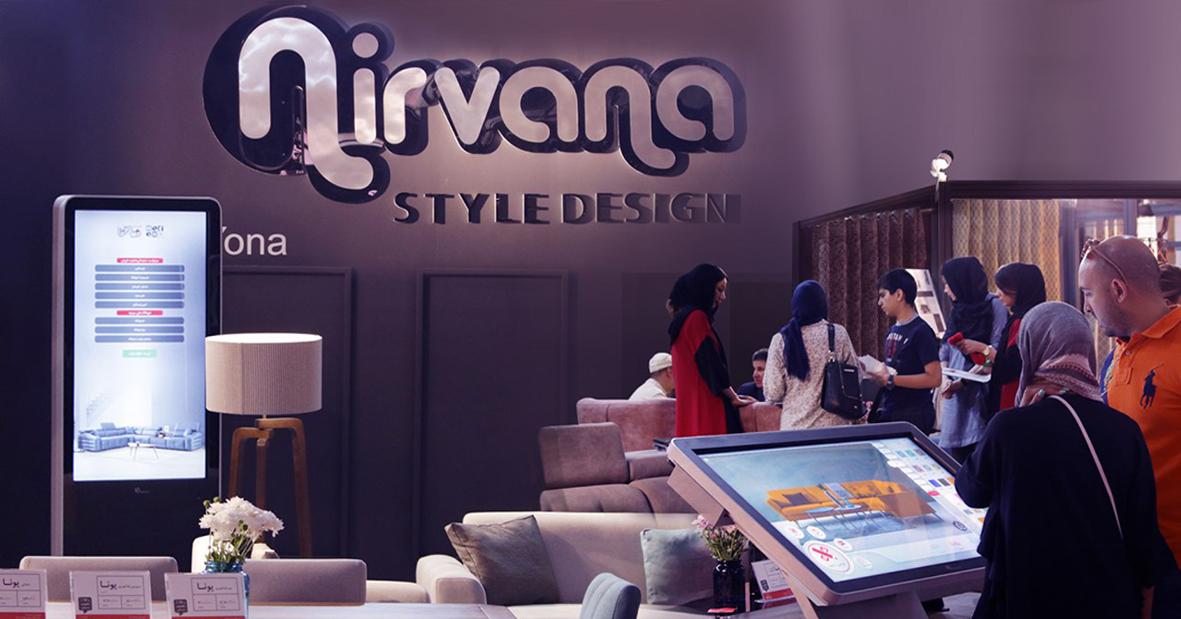 کیوسک های نظرسنجی و دیزاین نیوتک در غرفه نیروانا