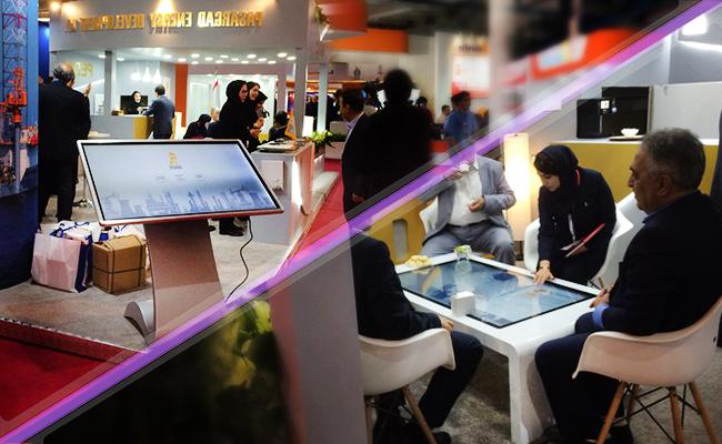 کیوسک های هوشمند ، میز لمسی و گالری اختصاصی در غرفه پاسارگاد