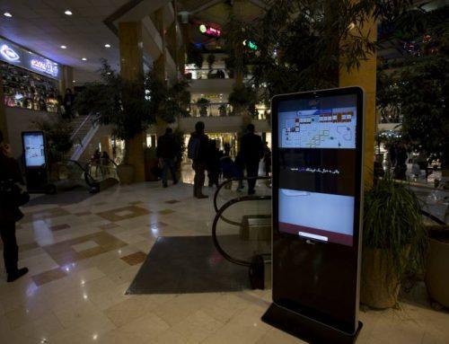 کیوسک های مسیریابی نیوتک در مجتمع تجاری تیراژه