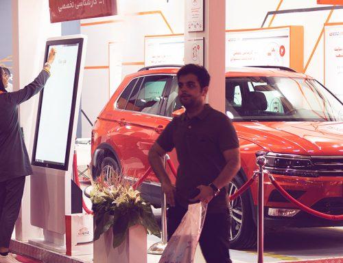 استندتاچ نیوتک در غرفه خودرو۴۵ الکامپ