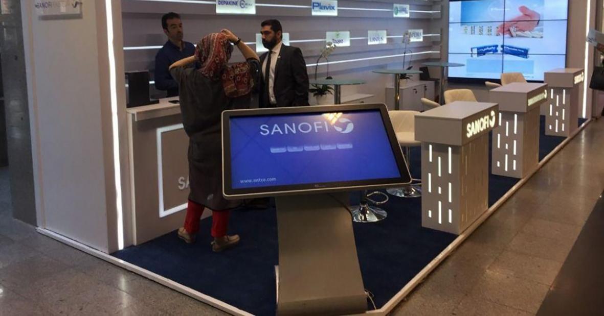 کیوسک لمسی هوشمند نیوتک در سانوفی