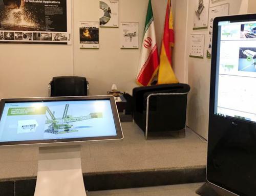 همکاری با متاگروپ با اجاره استندهای تاچ نمایشگاهی نیوتک